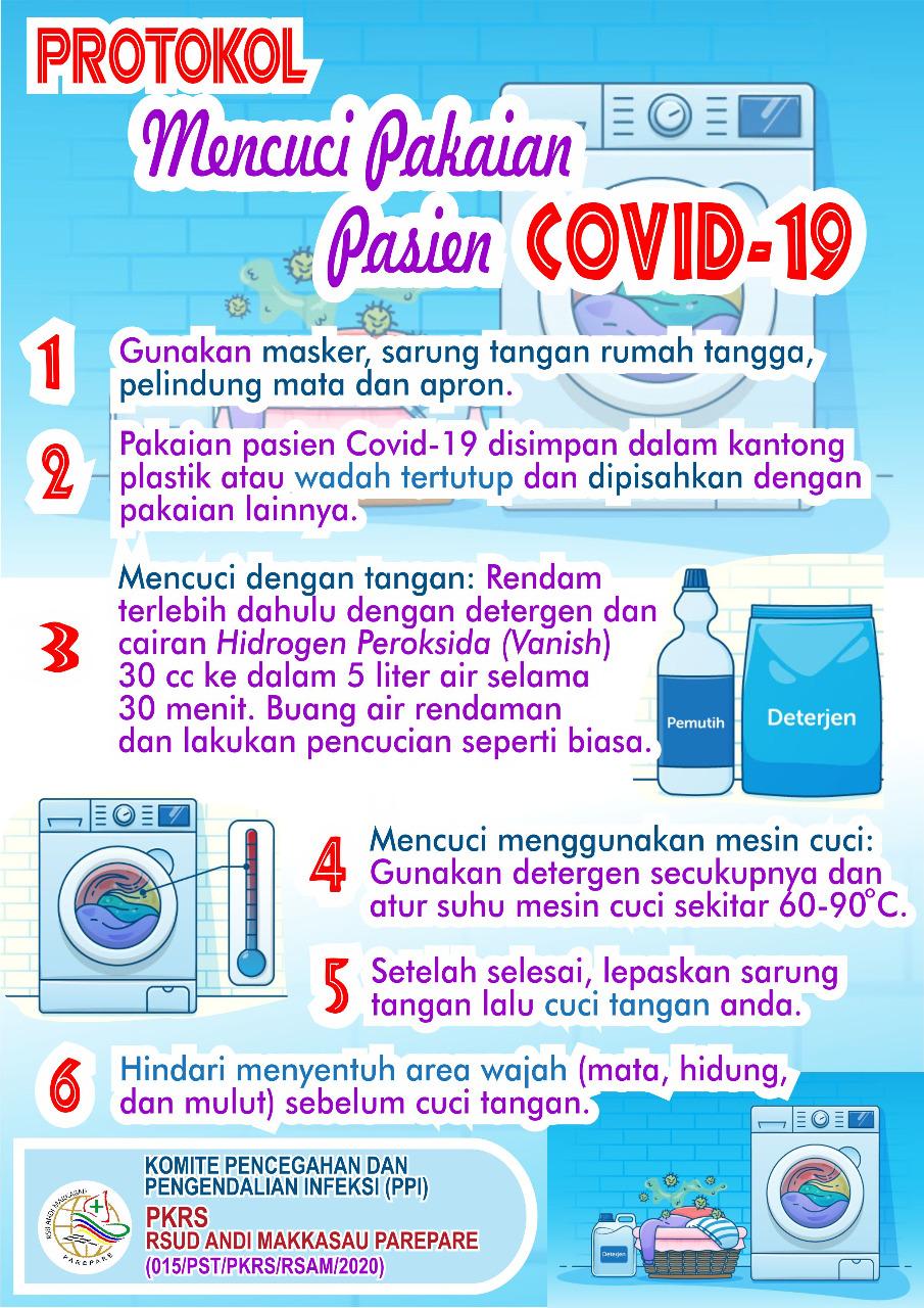 Protokol Mencuci Pakaian Pasien Covid 19 Rsud Andi Makkasau Cara mencuci pakaian yang benar